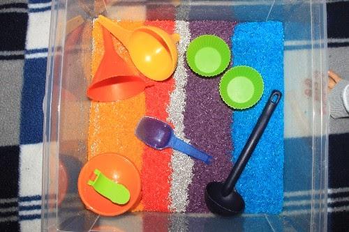 Gekleurde speelrijst
