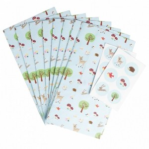 Woodland feestzakjes met stickers