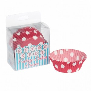 cupcake vormpjes rode stip
