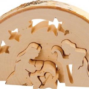Kerststal hout 3D