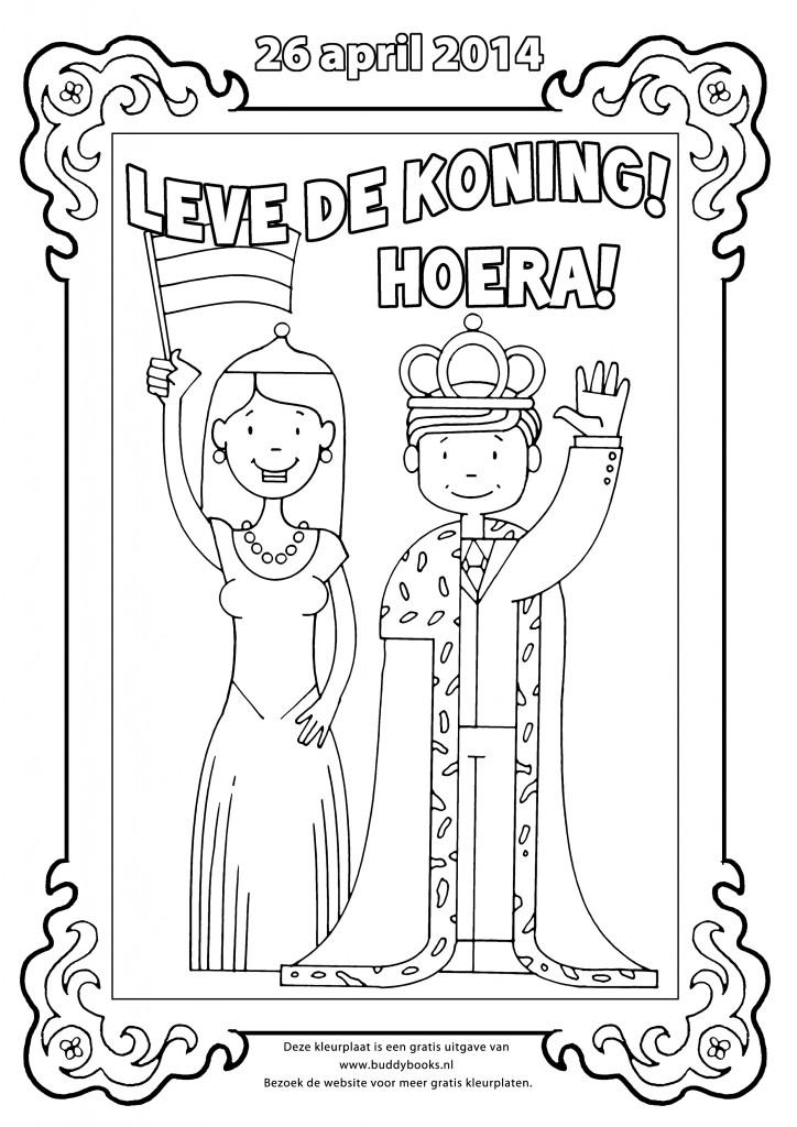 Koning Willem Alexander En Maxima Kleurplaat Koningsdag Knutseltips Kaboutertuin