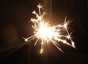 schrijven met vuurwerk