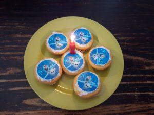 Olaf kinderfeestje cupcakes
