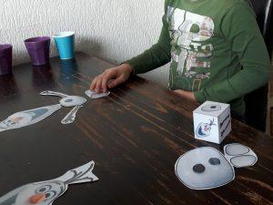 Olaf kinderfeestje dobbelspel