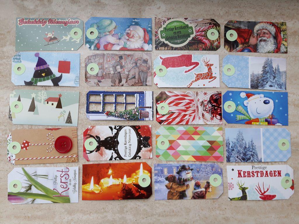 oude kerstkaarten labels
