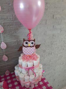 babyshower decoratie luiertaart