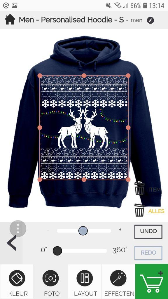 kerst hoodie