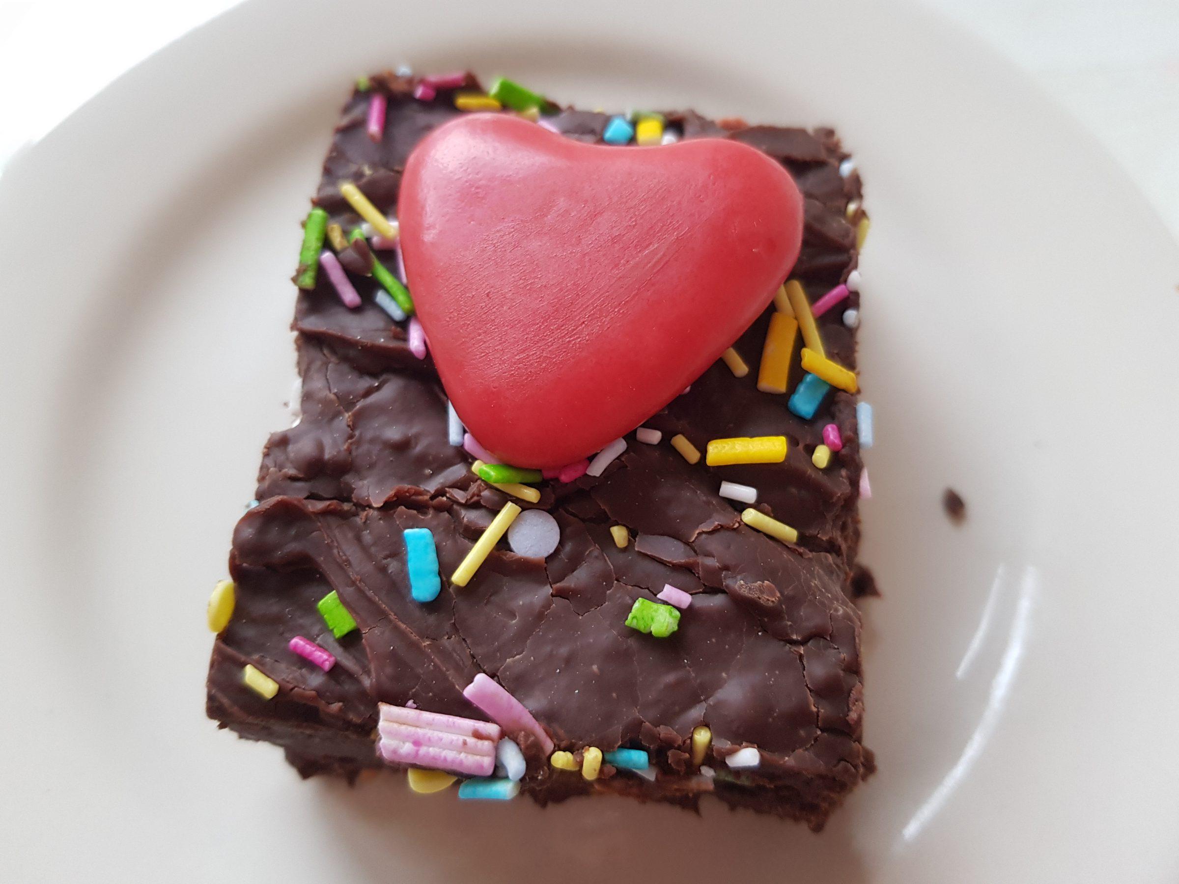 chocolade fudge voor valentijn
